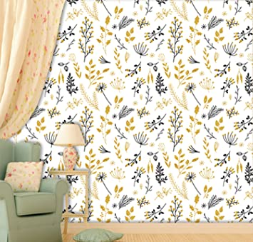Buy Printelligent Tree Branches Leaf Wallpaper Peel And Stick Wallpaper Self Adhesive Home Decor Room Kids Room Decor Wallpaper Size 45 Sqft Online At Low Prices In India Amazon In
