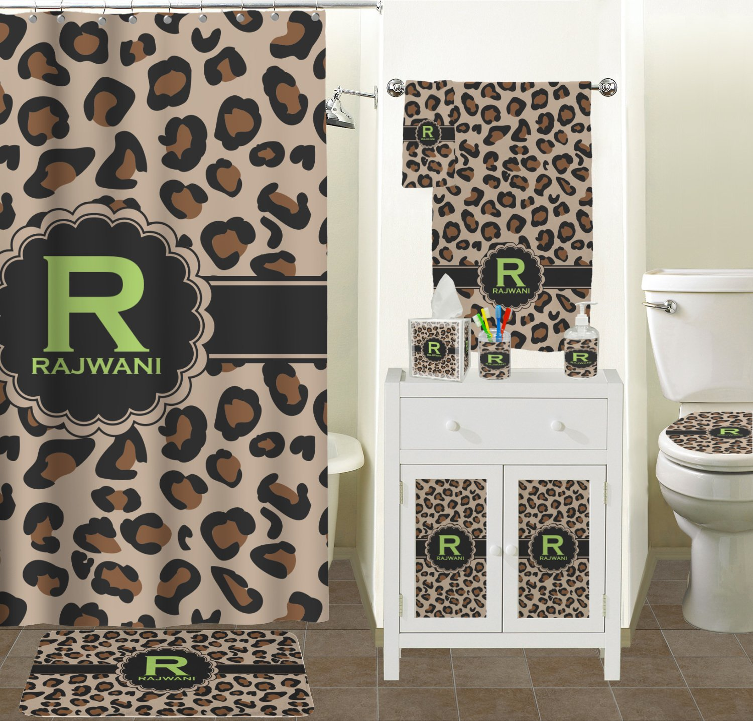 RNK Shops Granite Leopard Finger Tip Towel (Personalized) by RNK Shops (Image #3)