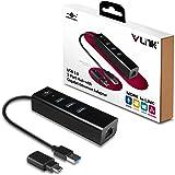 Vantec vlink USB 3-Port Hub con adaptador de Ethernet Gigabit Plus última USB-C Converter, Negro (ugt-ah340gna)