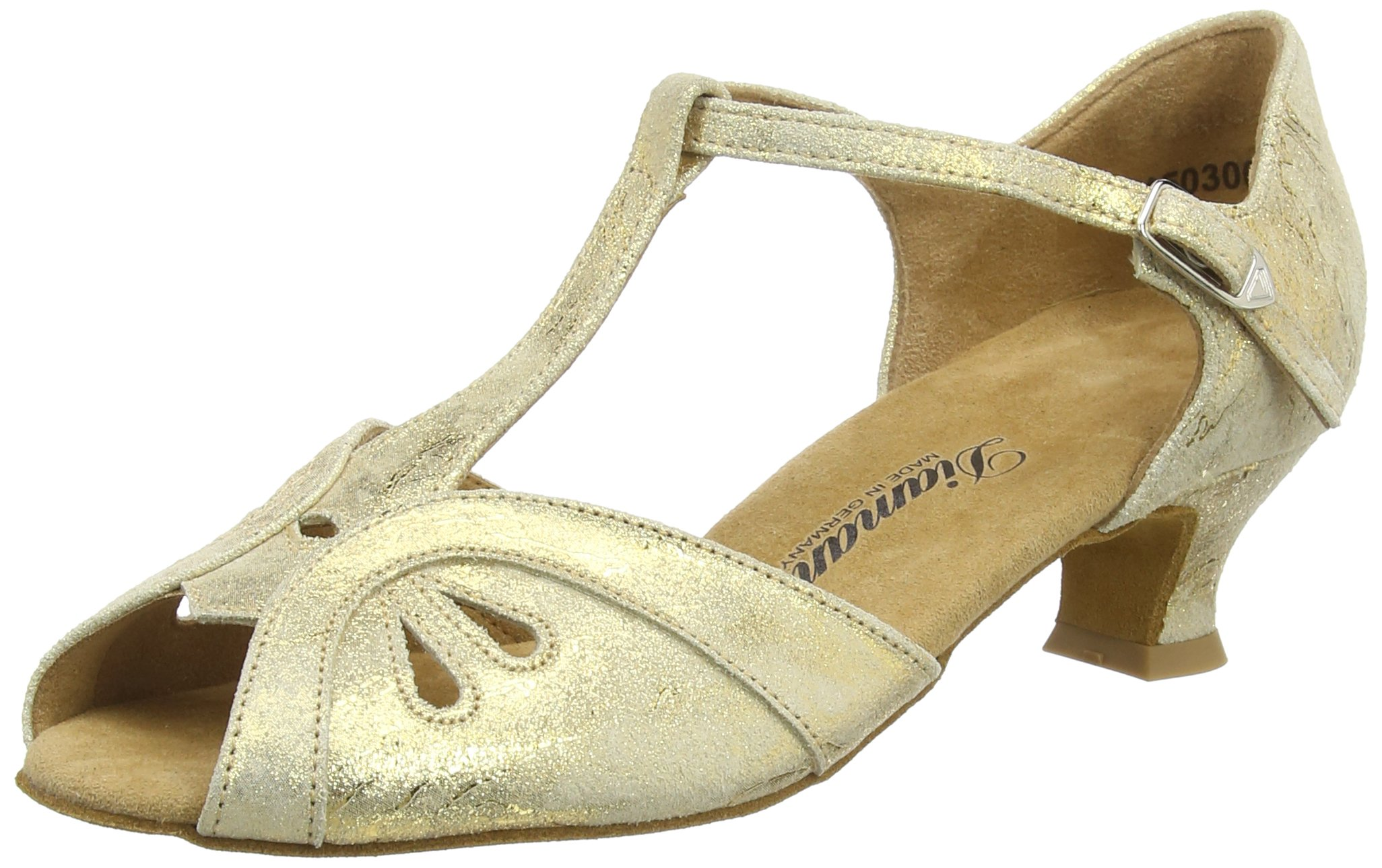 Diamant Womens Dance Shoes 019-011-017 Gold Magic Leather 7B(M) US