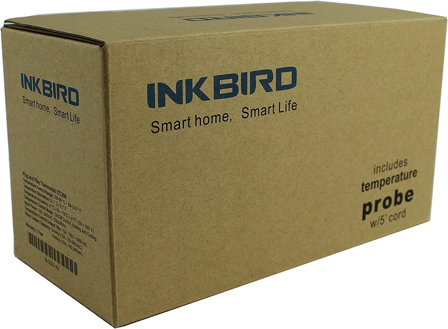 Inkbird ITC-308 Digital Temperature Controller Outlet Thermostat 2-stage 1100W Renewed with Sensor