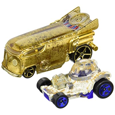 Hot Wheels Star Wars R2-D2 and C-3PO Character Car 2-Pack: Toys & Games