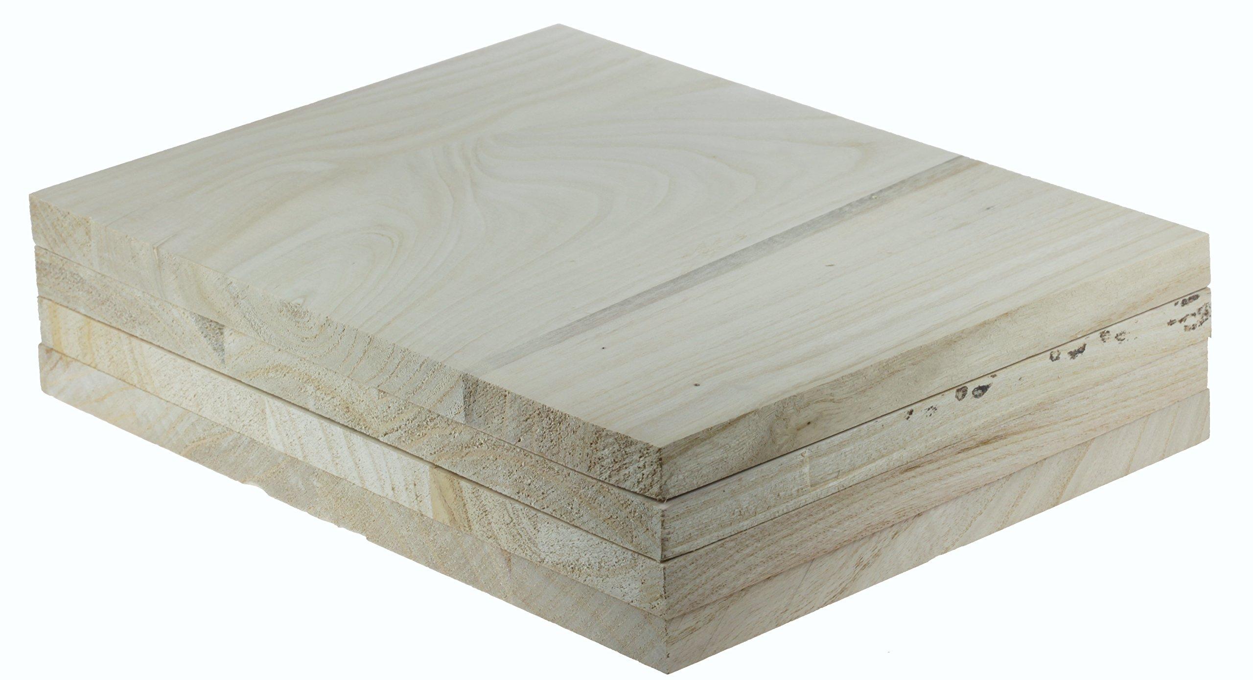 Tiger Claw Wood Breaking Board - Breakable Board in 18 mm Thickness (4 Board Pack)