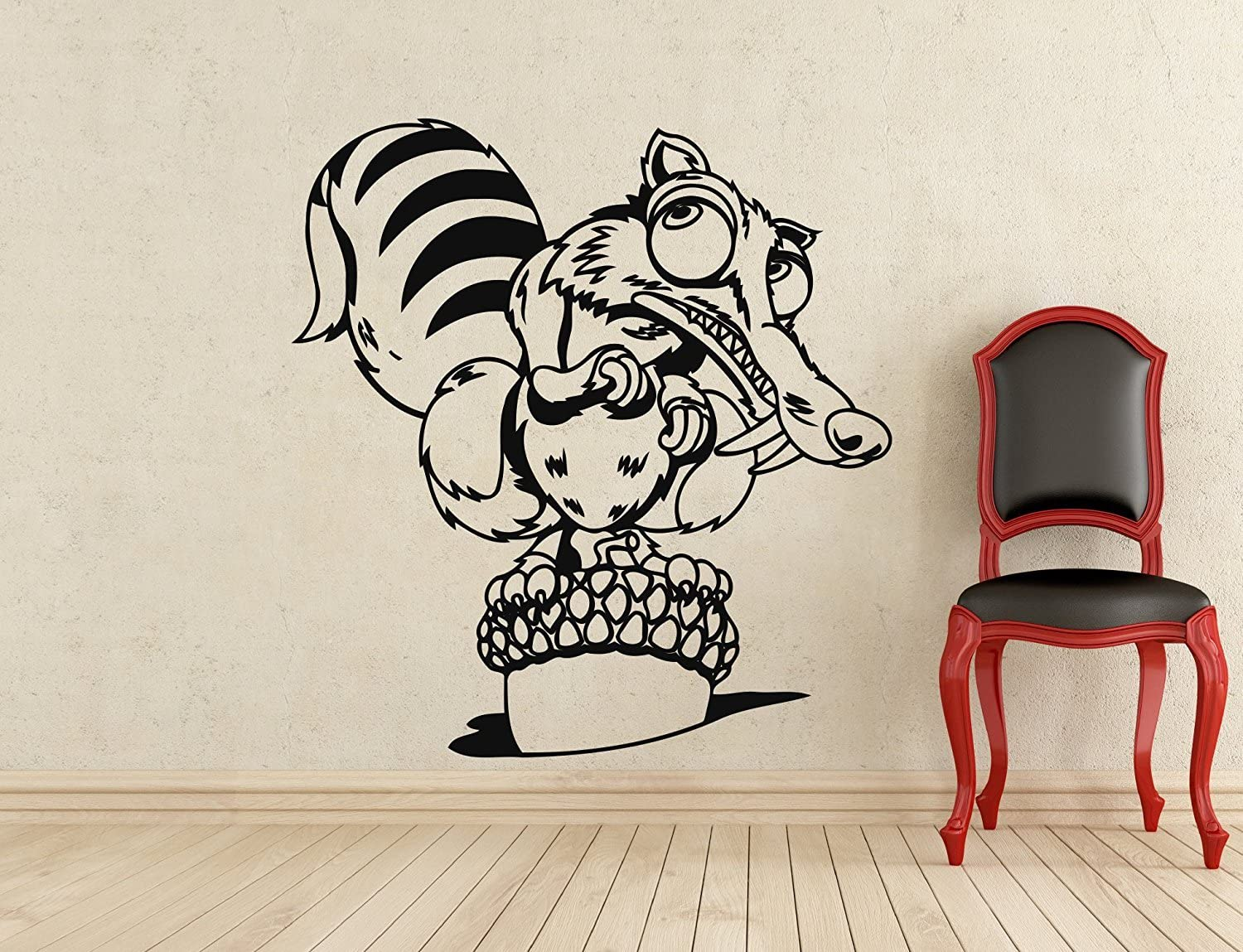 Ice Age SCRAT Decal Childrens Wall Stickers Wall Vinyl Kids Decals 3 Sizes