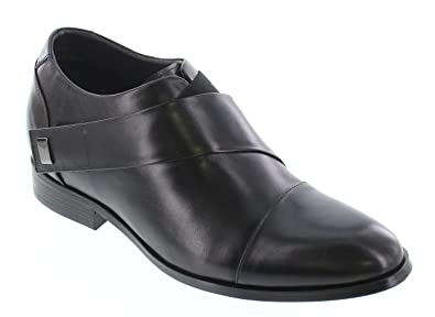 K328011 - 3 Inches Taller - Height Increasing Elevator Shoes (Black Slip-on)