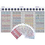 "Amazon Price History for:Fantasy Football Draft Kit 2017 - 2018 5ft X 3ft Color Board with Large 4"" Color Sticker Labels"