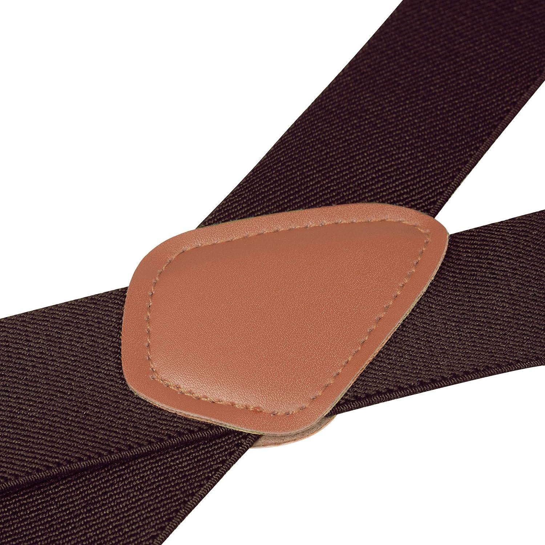 Ganci Metallici larghe 3 cm Buyless Fashion Bretelle a X Posteriore da Uomo Regolabili ed Elastiche 1,2 metri