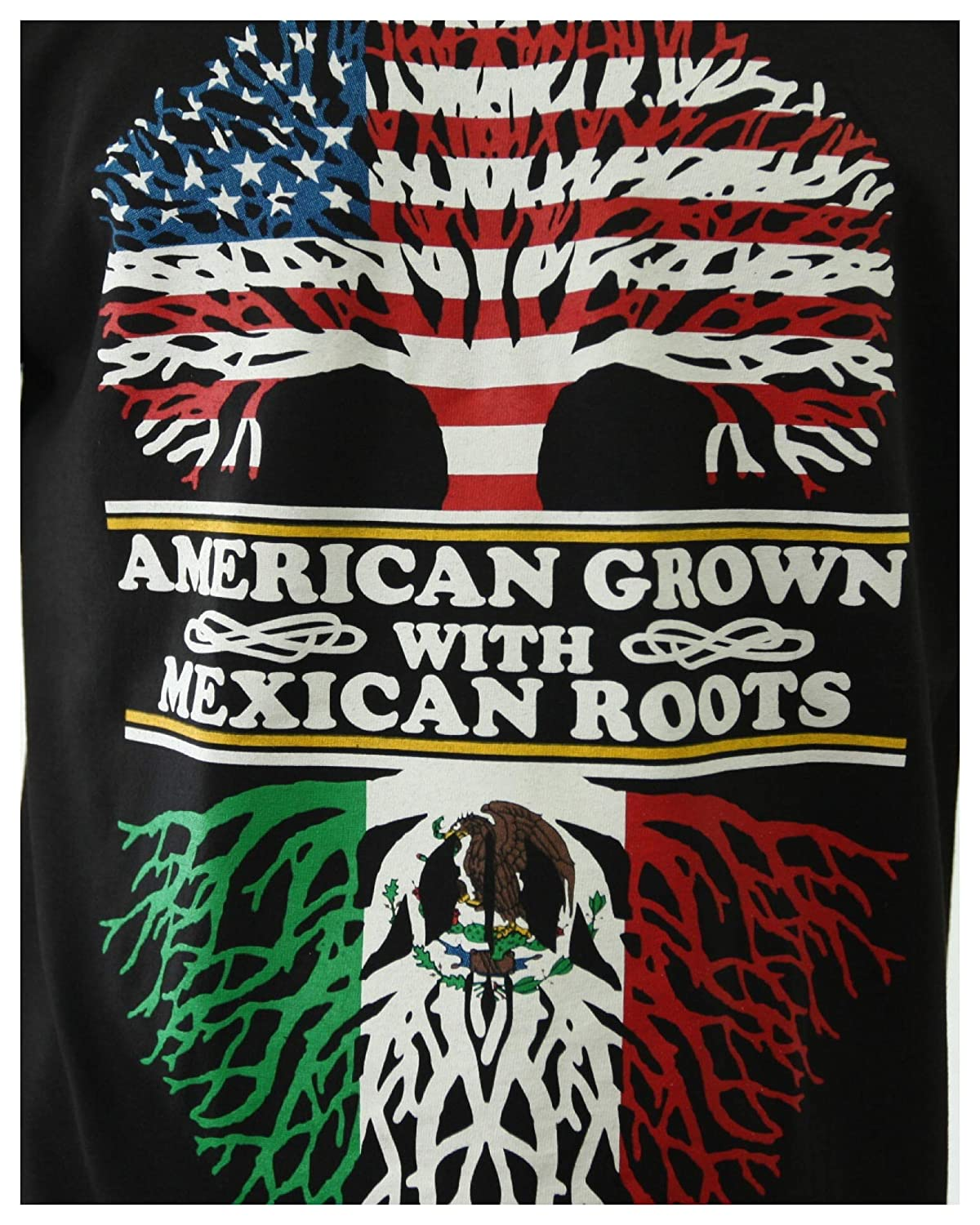 ad275d85d 90210 Wholesale Graphic T-Shirt American Grown with Mexican Roots Printed  Spanish Tee | Amazon.com