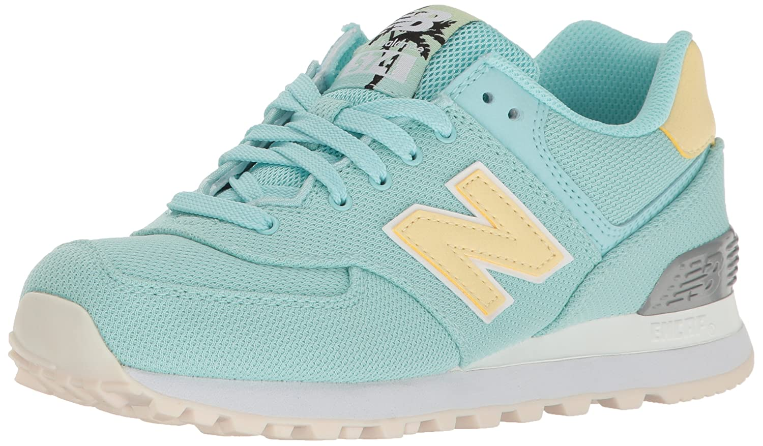 New Balance Women's 574 Miami Palms Pack Lifestyle Fashion Sneaker B01LX1M1E6 5 B(M) US|Ozone Blue Glo/Pollen