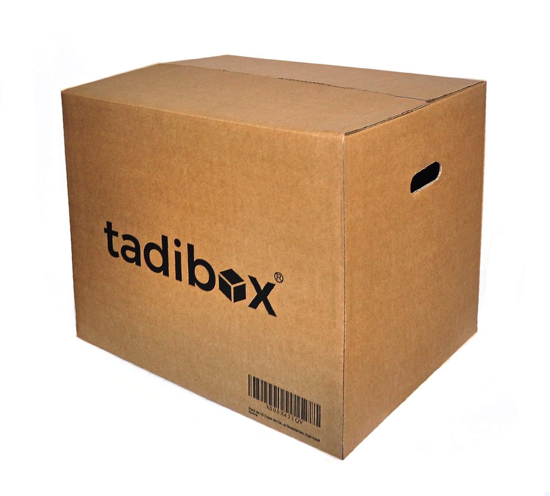 Pack 7 Cajas de Cartón con Asas Extra Resistentes - 470x350x390mm - VARIOS TAMAÑOS - Canal Doble Alta Calidad Reforzado - Cajas Mudanza y Almacenaje ...