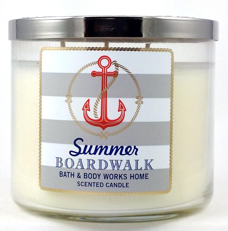 Bath /& Body Works Candle 3 Wick 2015 Edition Summer Boardwalk