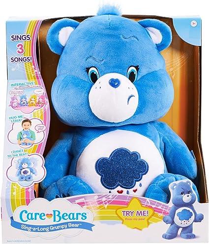 Message Recorder Stuffed Animals, Amazon Com Care Bears Grumpy Sing A Long Bear Plush Toys Games