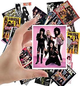 "Large Stickers (24pcs 2.5""x3.5"") MOTLEY CRUE Rock Music Posters Photos Vintage Magazine covers"