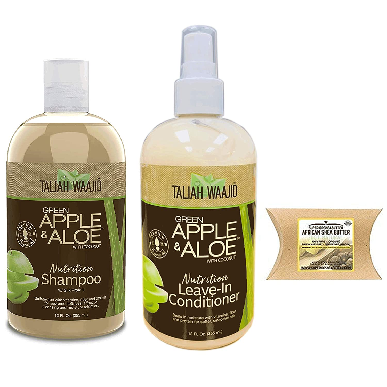 Taliah Waajid Green Apple & Aloe With Coconut Combo (SHAMPOO&CONDITIONER)