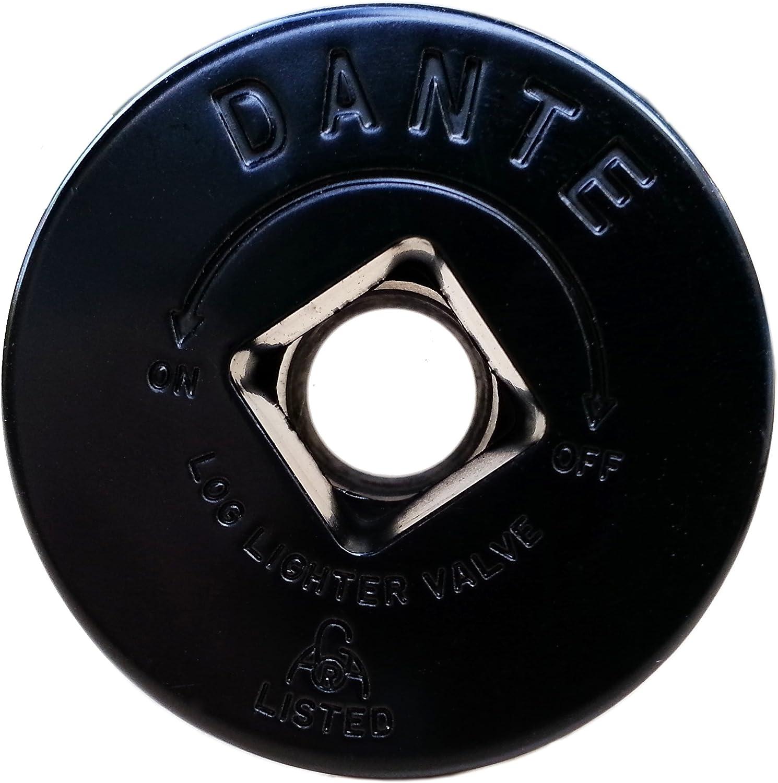 """Dante FP.GV.FB Flat Black Floor Plate for Dante Globe Valve - 1/2"""" Threaded Mating Valve"""