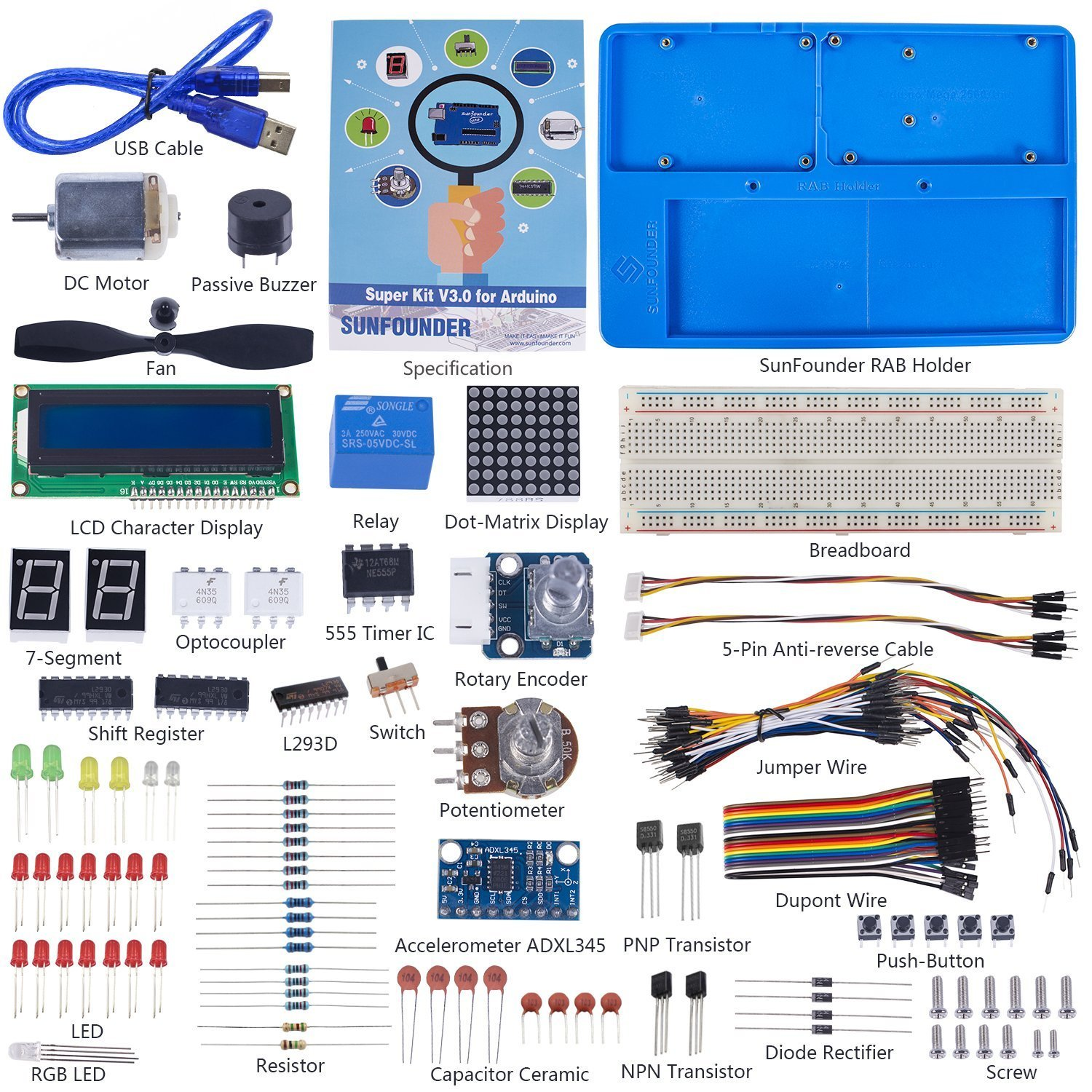 Sunfounder Project Super Starter Kit V30 With Tutorial Need Help My Game Show Buzzer Electronics Forum Circuits Book For Arduino Uno R3 Mega 2560 Computers Accessories
