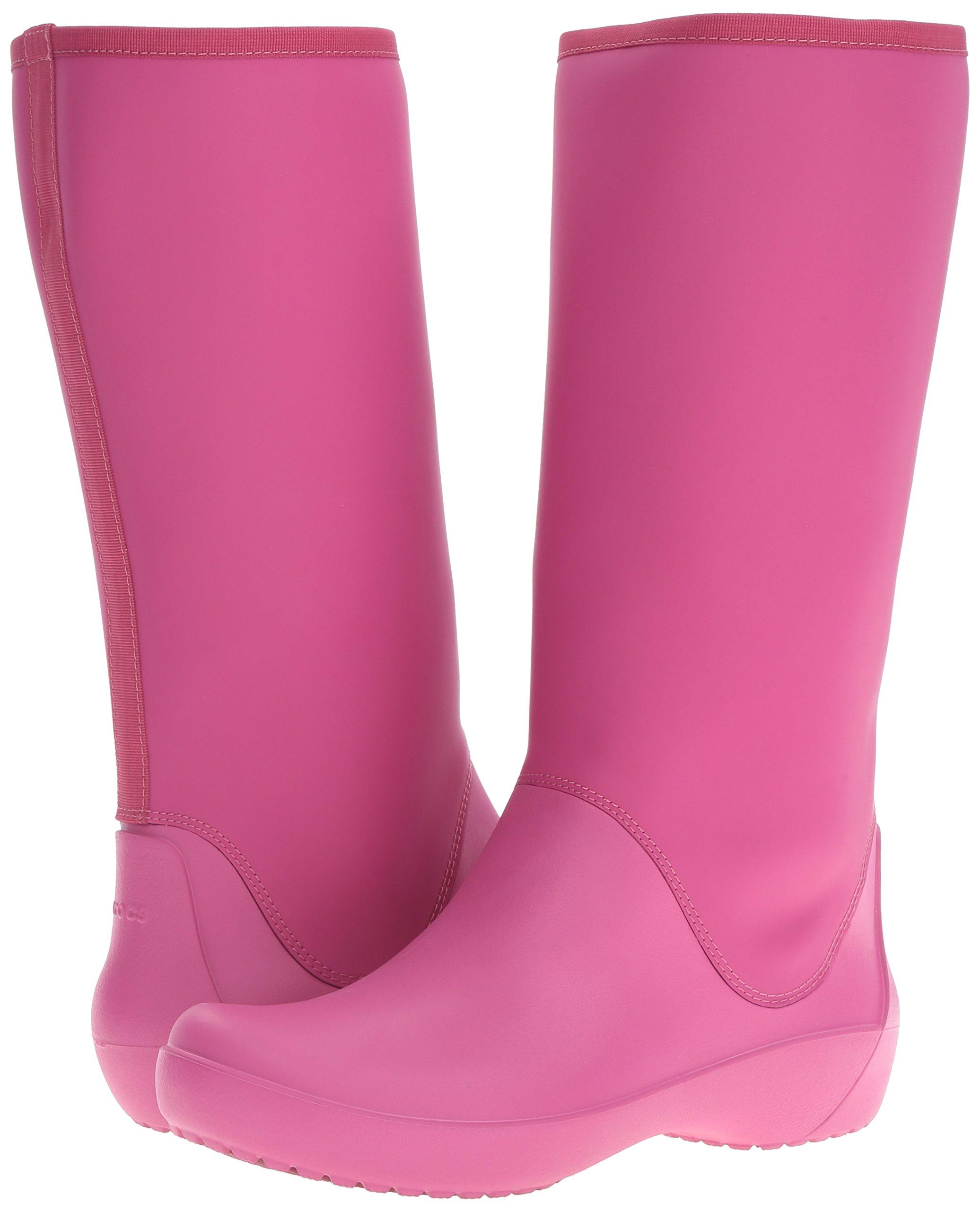 Crocs Women's Rain Floe Tall Boot, Berry, 7 M US by Crocs (Image #6)