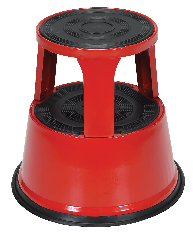rolling steel p itm stool with kick non premium slip casa pura rubber step