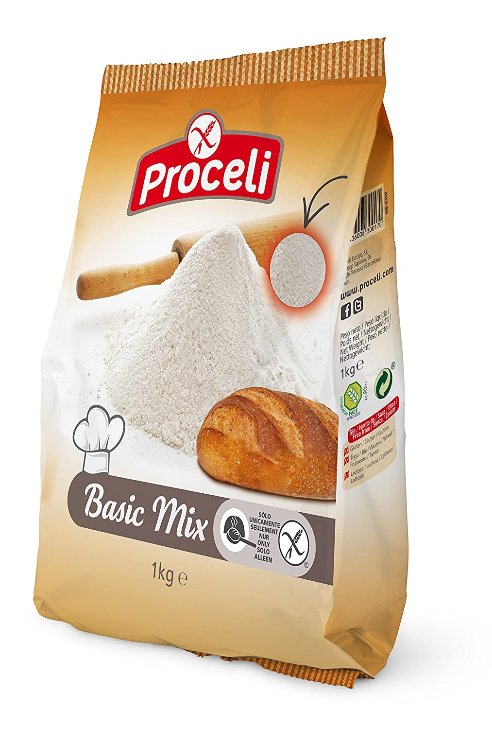 Proceli Basic Mix - 1000 gr: Amazon.es: Alimentación y bebidas