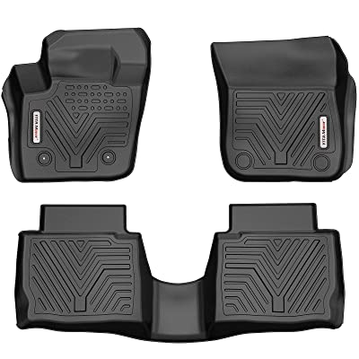 YITAMOTOR Floor Mats Compatible with Fusion & MKZ, Custom Fit Floor Liners for 2013-2016 Ford Fusion Energi & Titanium, Lincoln MKZ, 1st & 2nd Row All Weather Protection: Automotive