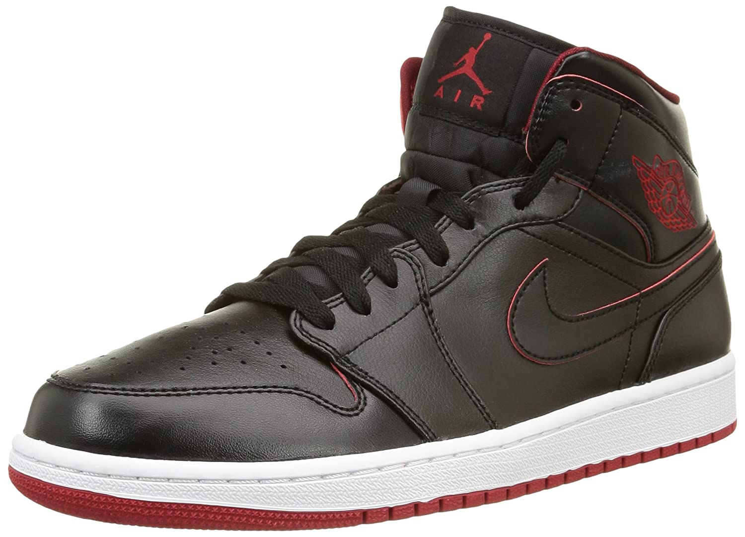 Black Black White Gym Red Nike - AIR JORDAN 1 MID
