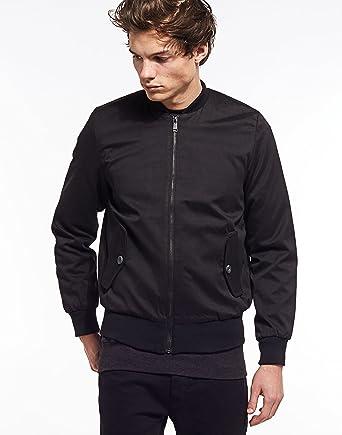6b5b81f86 Brave Soul Nylon Twill Bomber Jacket: Amazon.co.uk: Clothing