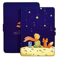 Tkmell Funda para Kindle Paperwhite, Cubierta de Cuero de la PU para Kindle Paperwhite (Niño y Zorro)