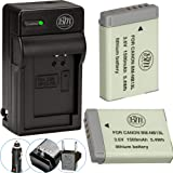 BM Premium 2-Pack of NB-13L Batteries and Battery Charger for Canon PowerShot G5 X, G7 X, G7 X Mark II, G9 X, SX720 HS Digita