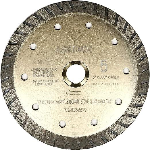 "7/"" Turbo Diamond Blade Wet /& Dry Tile Saw General Concrete Marble Masonry Brick"