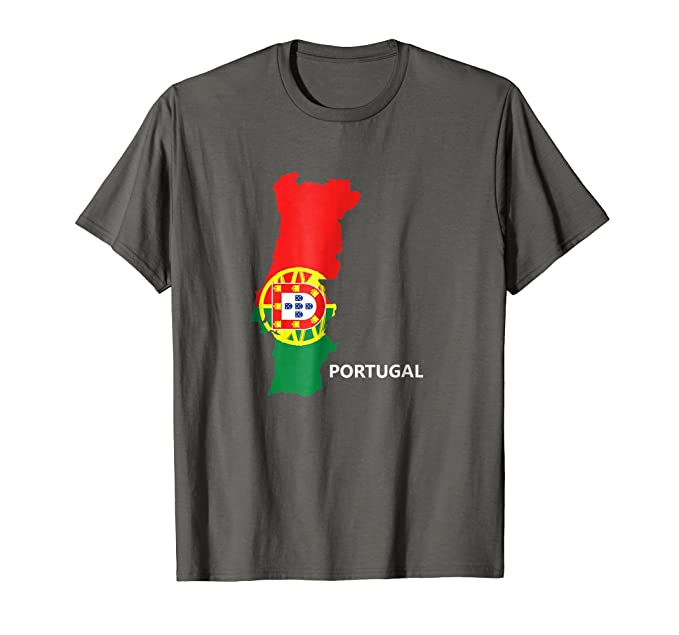Amazon Portugal Flag Map Portugal Soccer Team Fan T Shirt Clothing