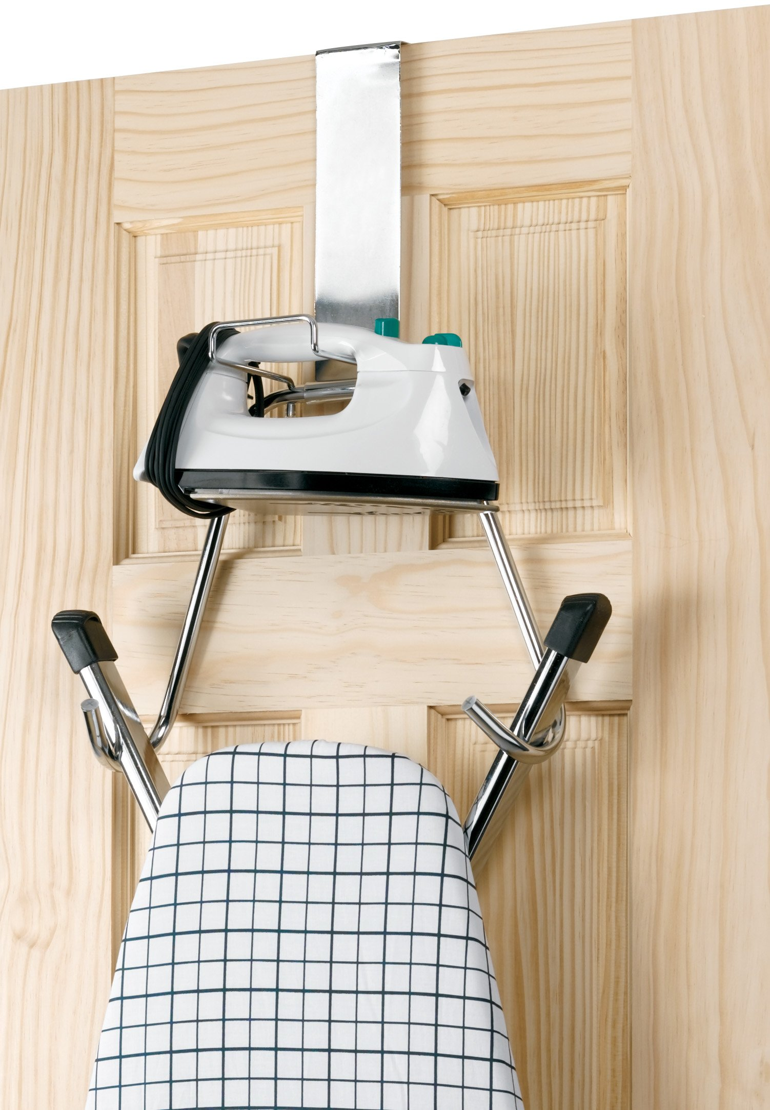 Polder 90617-05 Over the Door Iron and Board Holder - Chrome