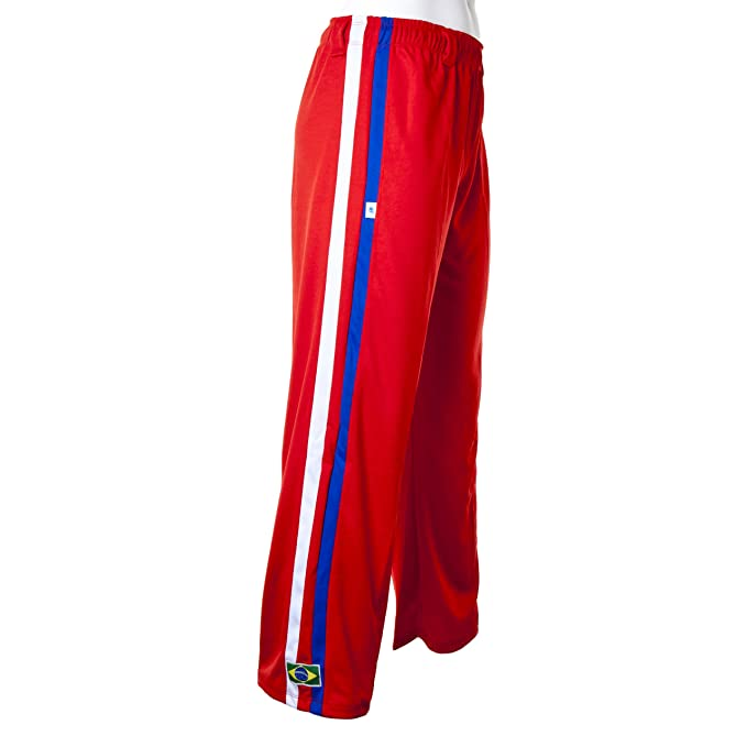 658b9fcc710 JL Sport Authentic Brazilian Capoeira Martial Arts Pants - Unisex (Red with  Blue and White
