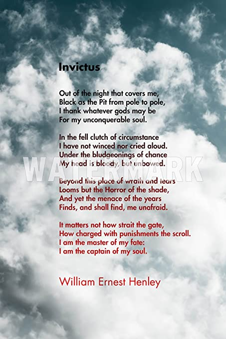 Tpck Invictus Motivational Poem By William Ernest Henley