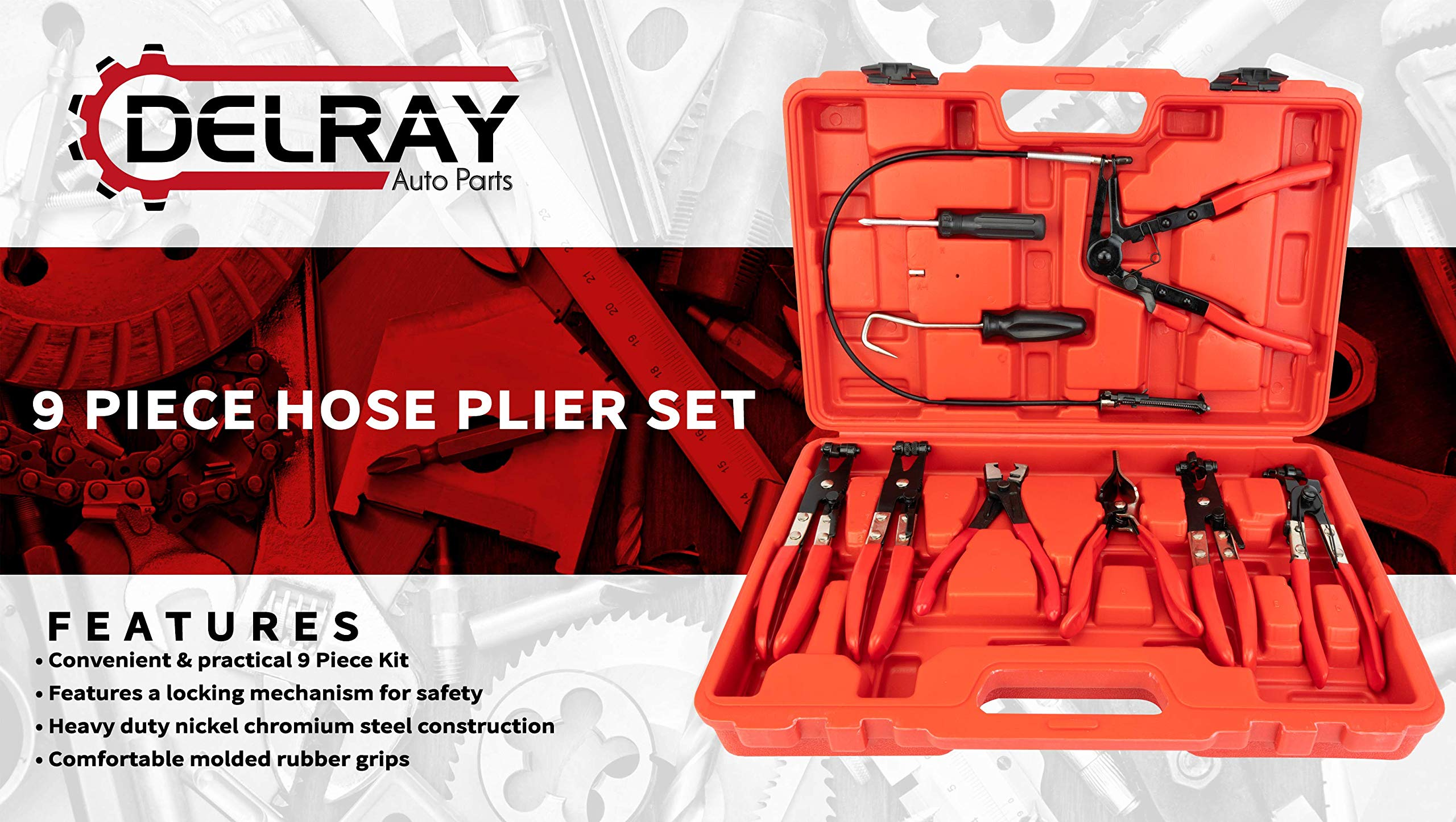 Delray Auto Parts 9pc Hose Plier Set by Delray Auto Parts (Image #2)