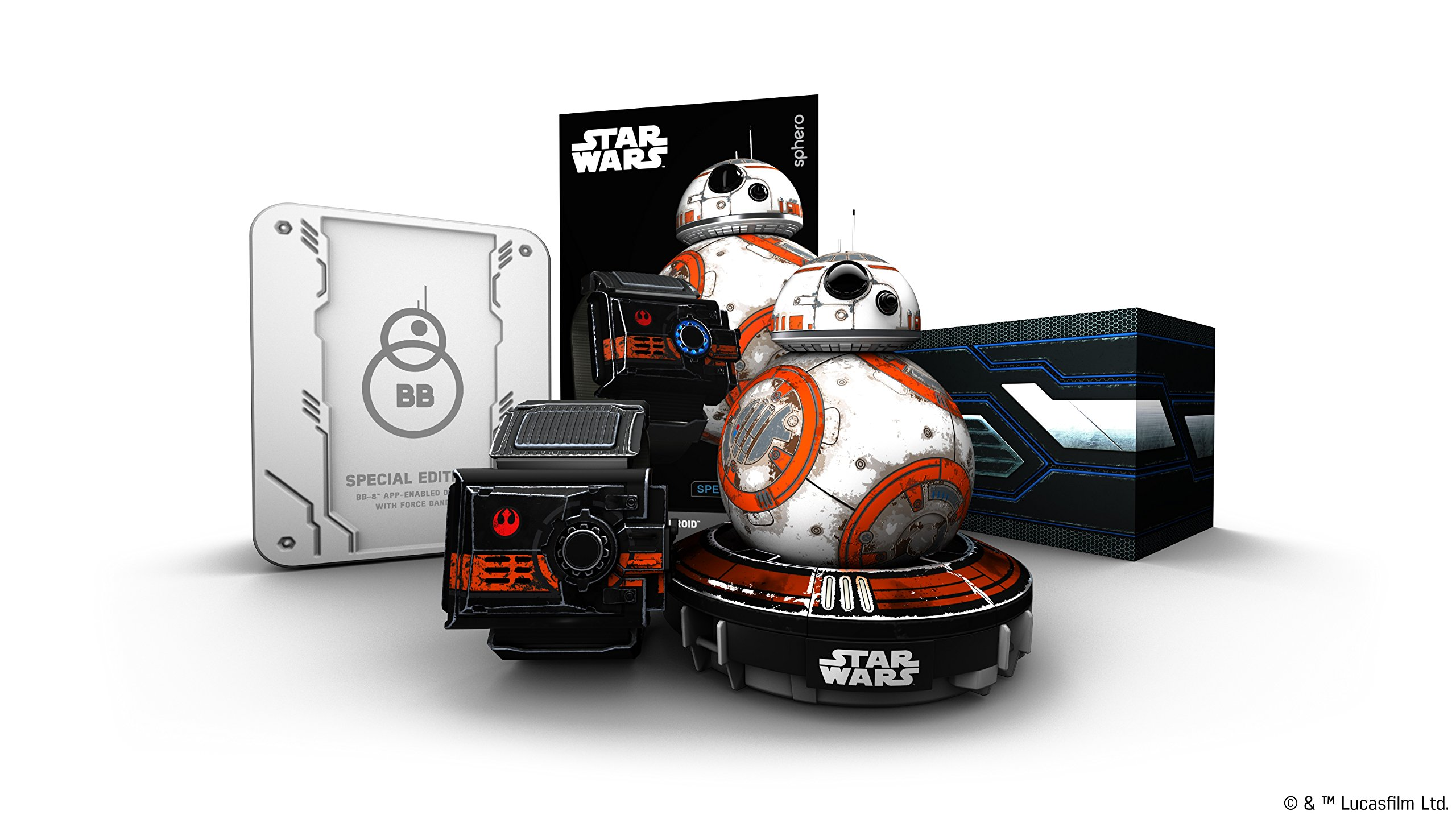 Wig Special Edition Battle-Worn BB-8 App-Enabled Droid with Force Band by Wig (Image #7)