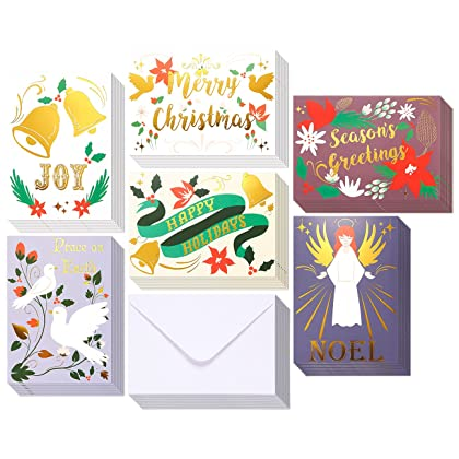 Amazon cambodia shopping on amazon ship to cambodia ship overseas 48 pack merry christmas greeting cards bulk box set winter holiday xmas greeting cards m4hsunfo