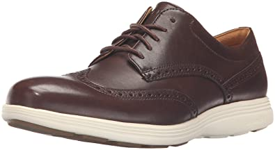 Cole Haan Men's Grand Tour Wing Ox Oxford, Chestnut Leather/Ivory, ...