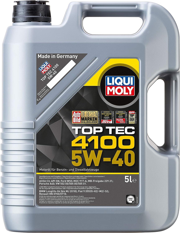 Liqui Moly 9511 - Aceite de motor, Top Tec, 4100, 5W-40, Booklet ...