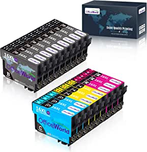 OfficeWorld 16XL Alta Capacidad Cartuchos de Tinta Compatible para ...