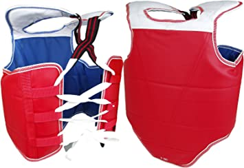 New Martial Arts Chest Guard Reversible Body Protector Taekwondo Sparring Gear