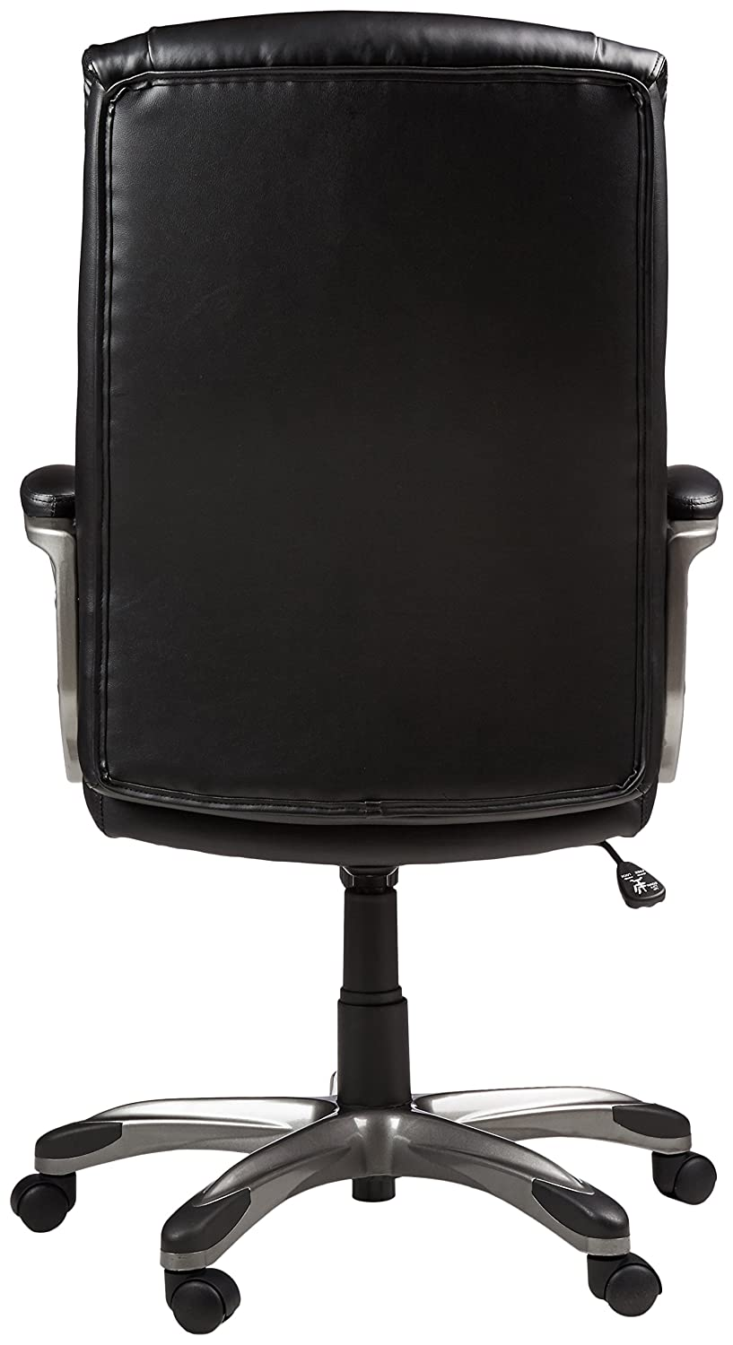 Amazon.com: AmazonBasics High-Back Executive Chair - Black: Kitchen on black office telephone, black accent chair, black office man, black designer chair, black fabric folding chair, black lift chair, high back executive leather desk chair, black couch chair, black lounge chair, black womb chair, black storage chair, black diamond chair, black and white office background, black lounging chair, black camp chair, computer chair, black oriental chair, black game chair, black studio chair, black easy chair,