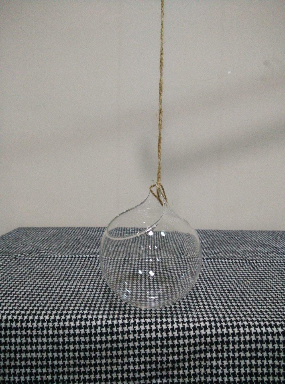 Wall Terrarium Cute Glass Pots Air Plant Flower Pot 10.510 cm Vases Hanging Wedding Decoration Blow Vase Wall Terrarium