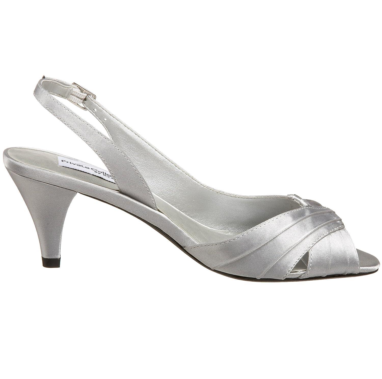 Dyeables Women's Nicky Sandal B001JAHJOK 8.5 B(M) US Silver Satin