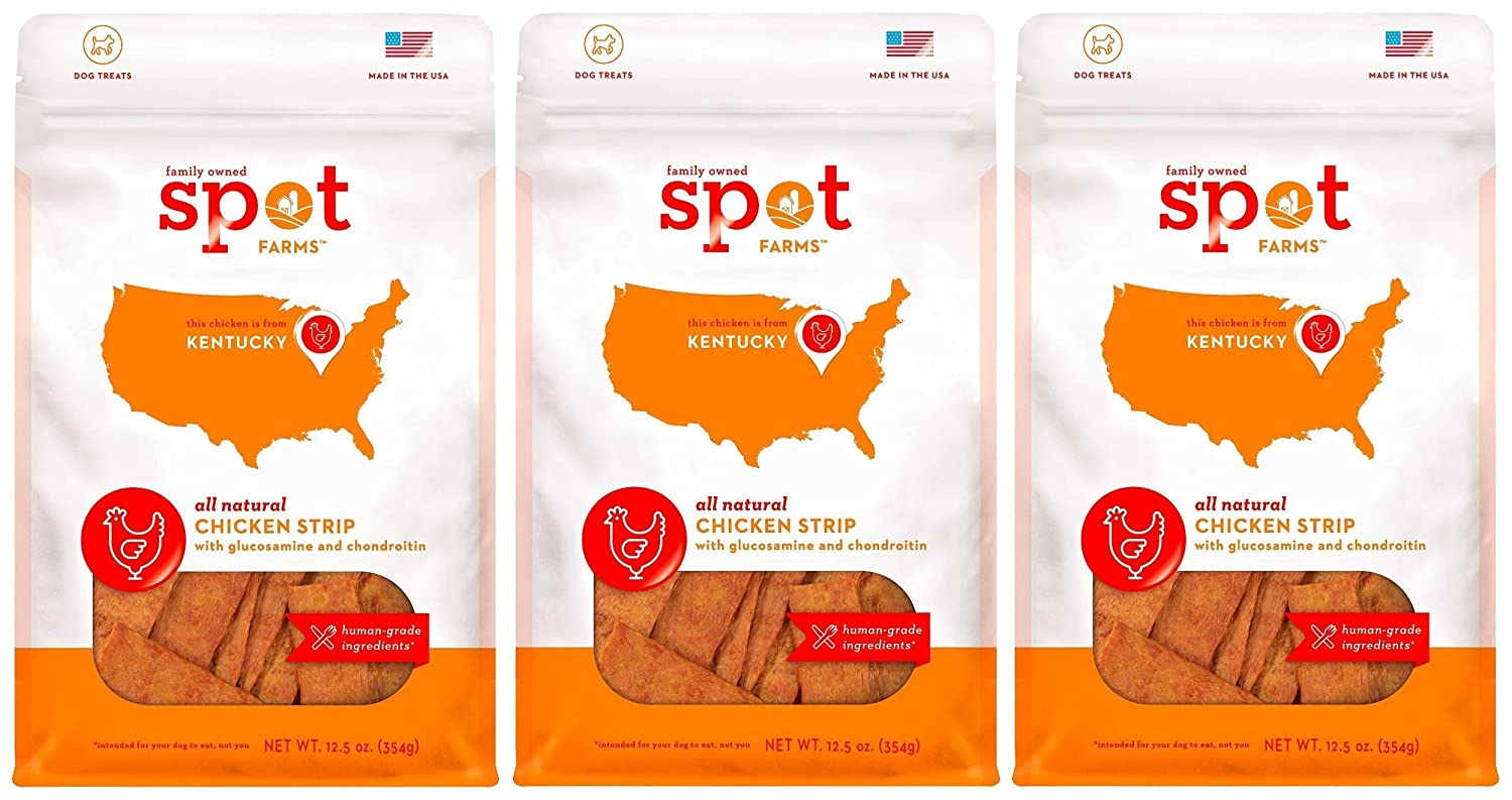 Spot Farms Chicken Strip with Glucosamine and Chondroitin for Dogs Pack of 3