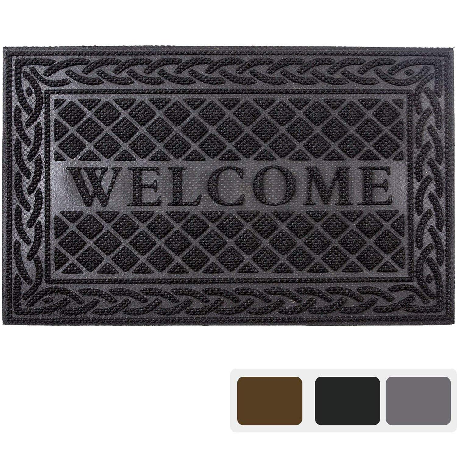 entrance door mat 24 x 36 inch large non slip welcome. Black Bedroom Furniture Sets. Home Design Ideas