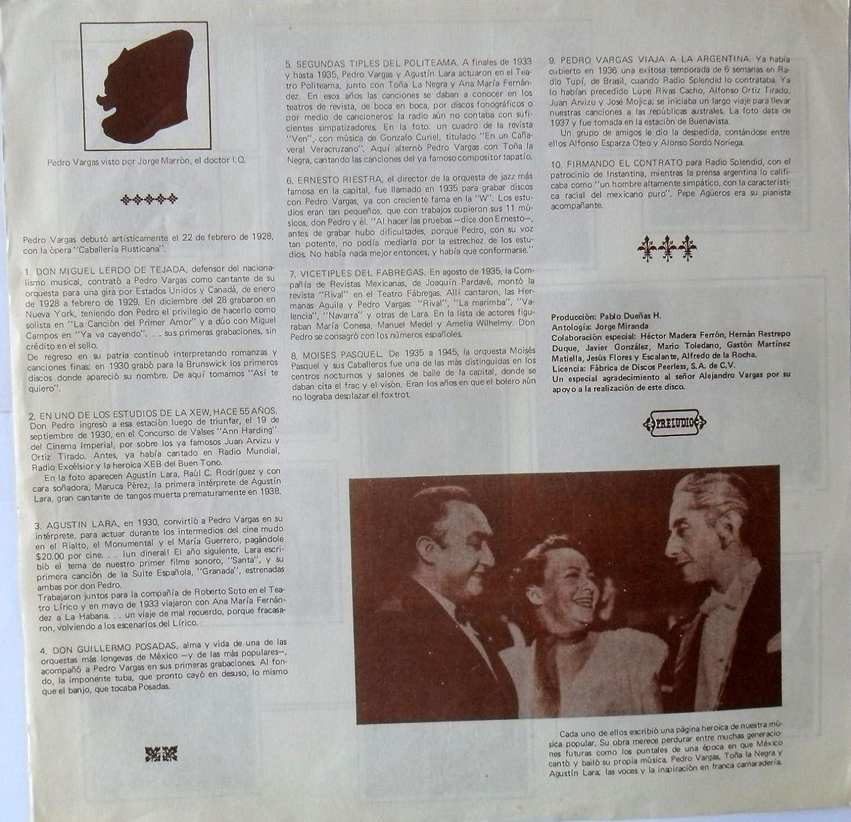 Amazon.com: PEDRO VARGAS-LAS PRIMERAS GRABACIONES 1928-1935 ...
