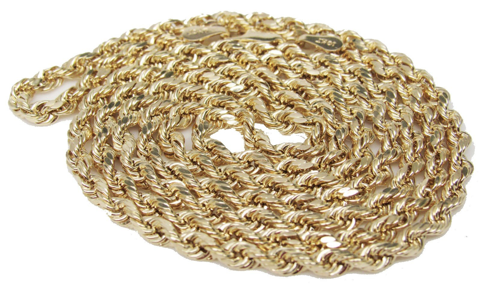 10K Yellow Gold Italian Rope Chain 20'' 2.5mm wide Hollow 3.2 Grams