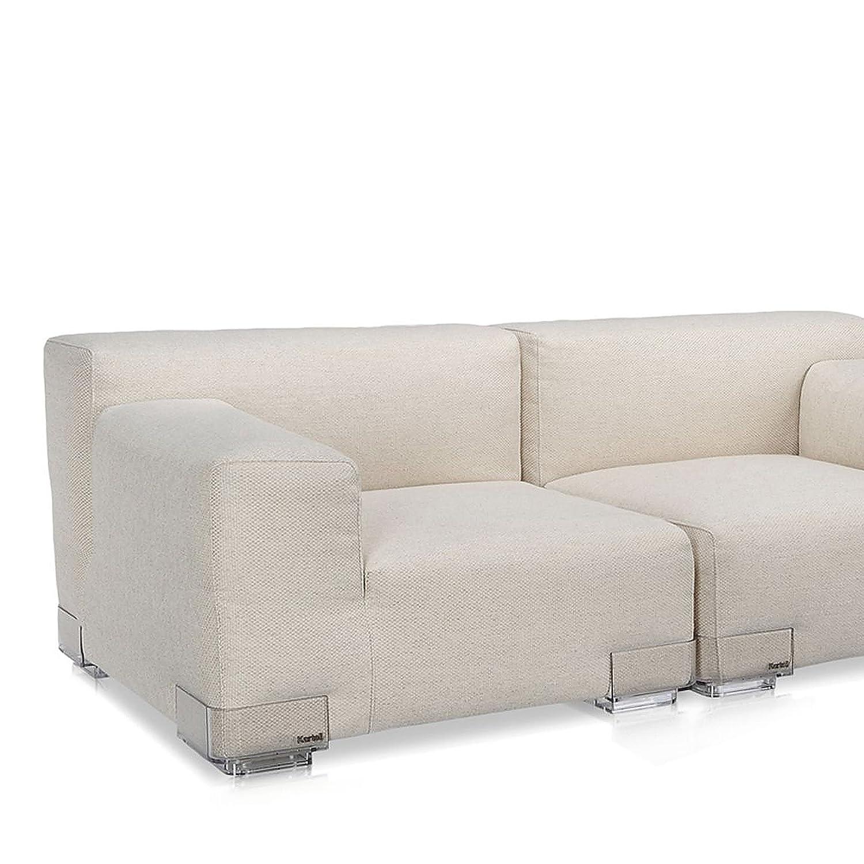 Plastics Duo 7094 Sessel klein, Armlehne links niedrig - ecru