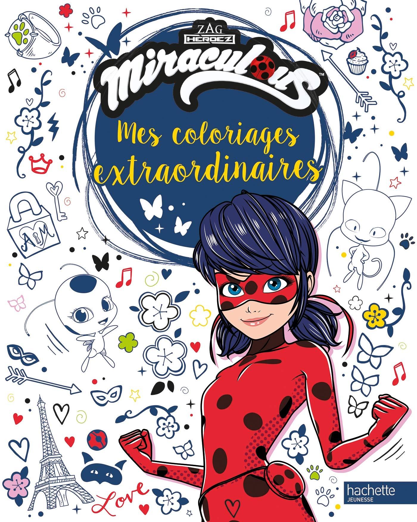 Coloriage En Ligne Gratuit Miraculous.Miraculous Coloriages Extraordinaires Amazon Fr