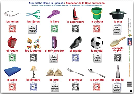 Amazon.com: Linguacious Teachers Favorite Spanish Animals and Objects Poster - Set of 3 Posters, 108 Words with Audio!: Posters & Prints